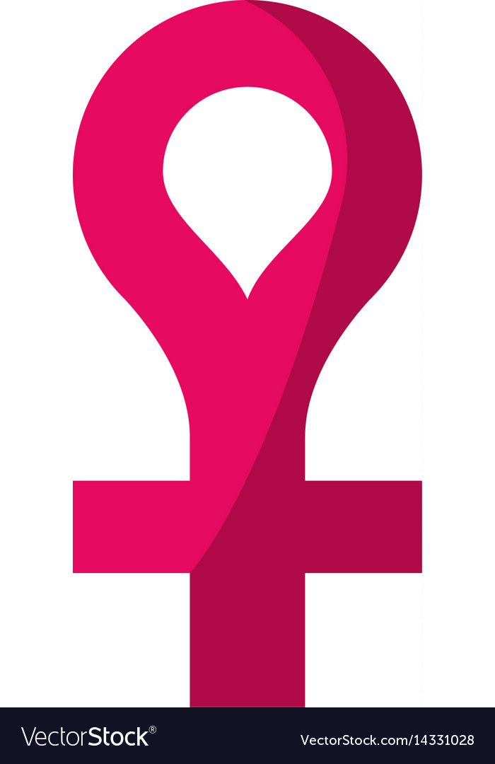 Female Gender Symbol Icon Royalty Free Vector Image
