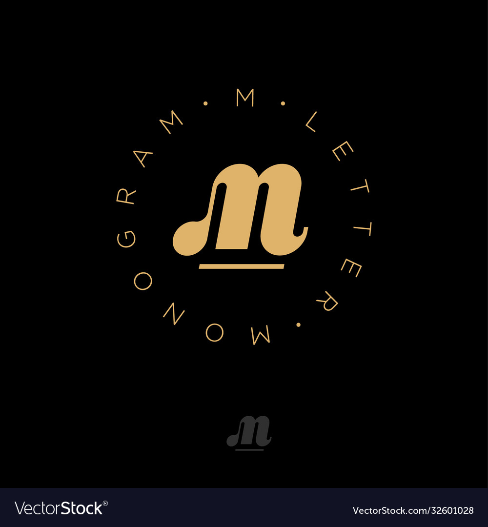 M monogram gold web business clothes sports