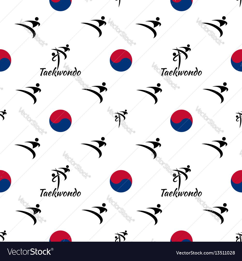 Seamless pattern taekwondo