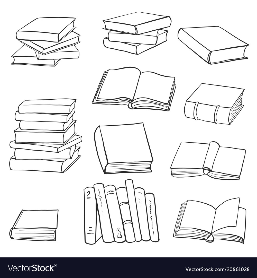 Set of drawing books