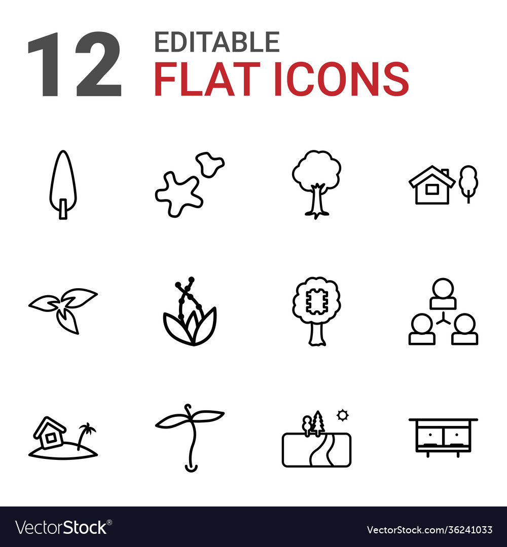 12 tree icons