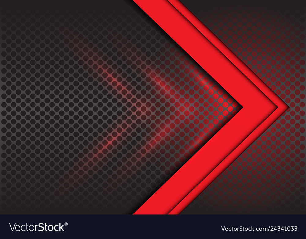 Abstract red arrow direction on circle mesh