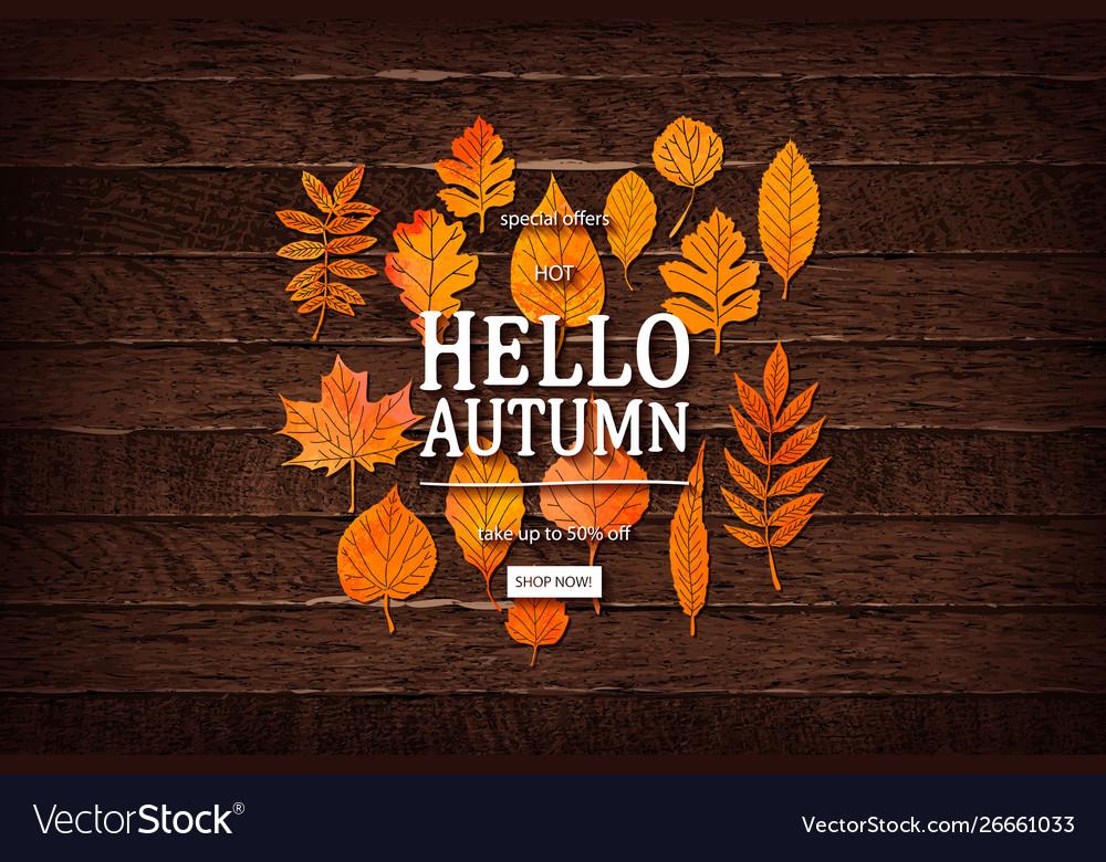 Autumn sale lettering label