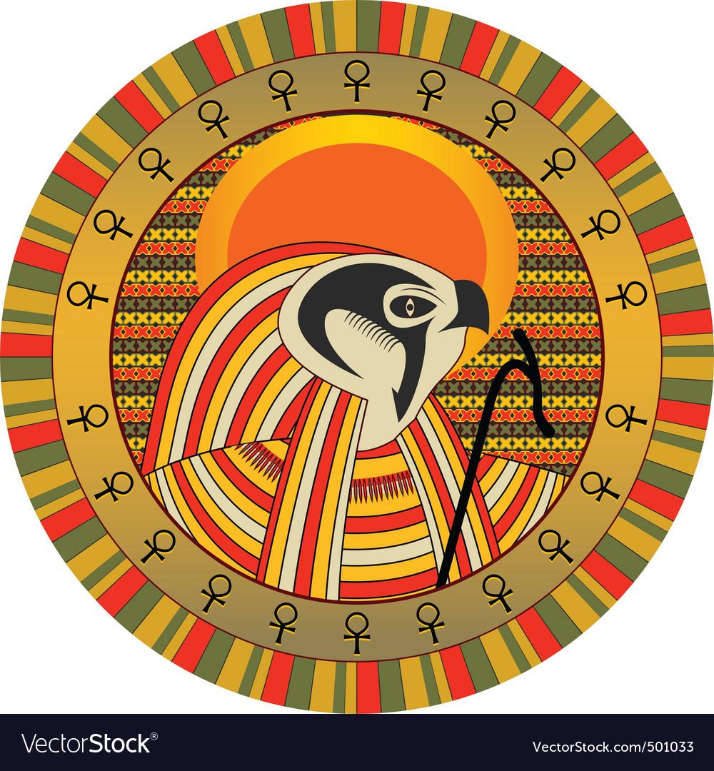Egyptian god of sun ra vector image