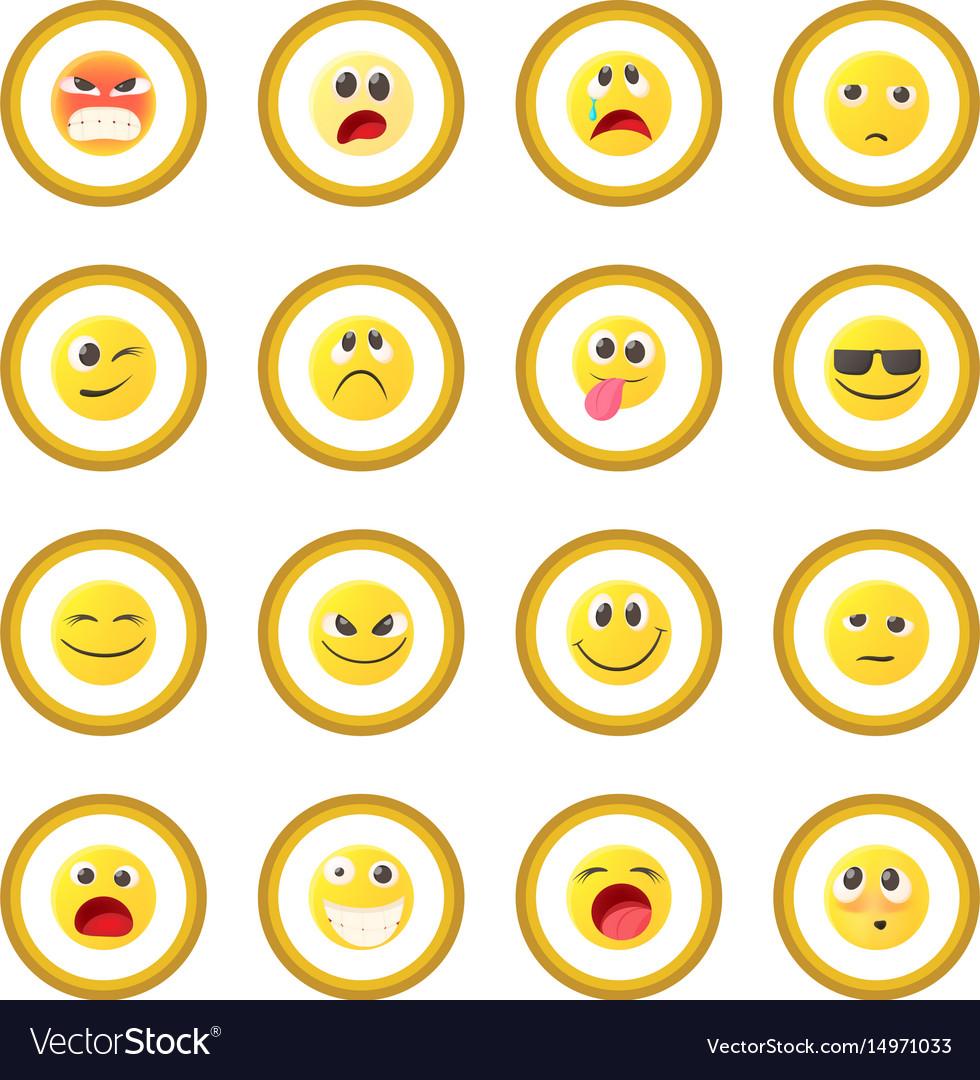 Emoticon icon circle vector image