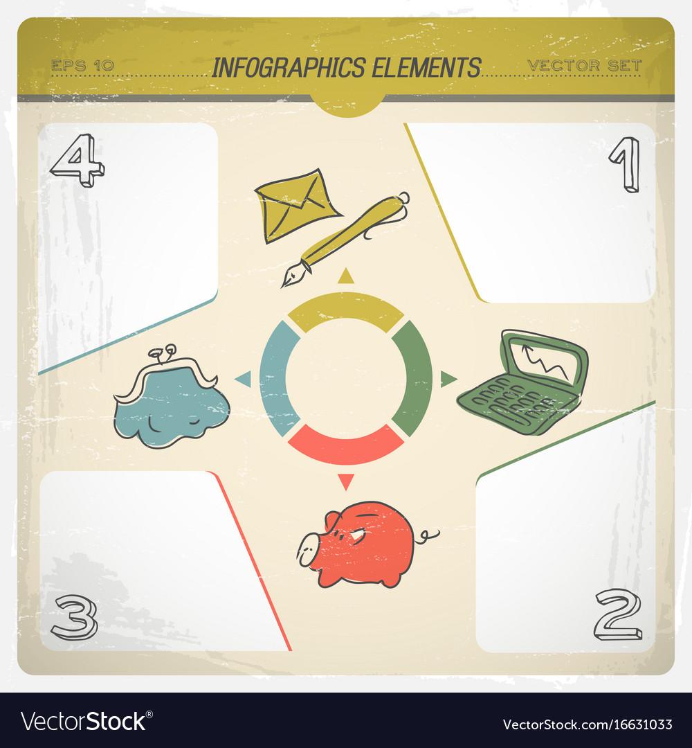 Family budget infographics set