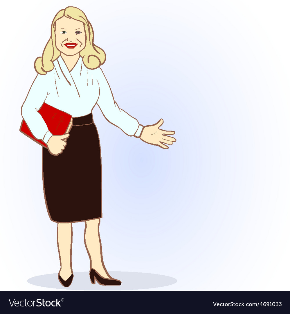 Featuring a Female Accountant vector image