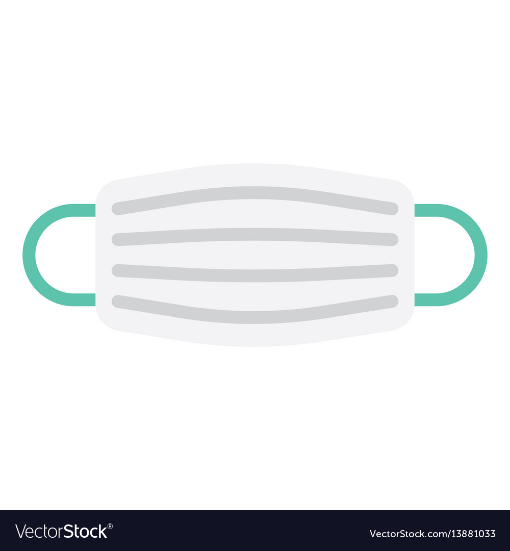Medical mask in flat style vector image