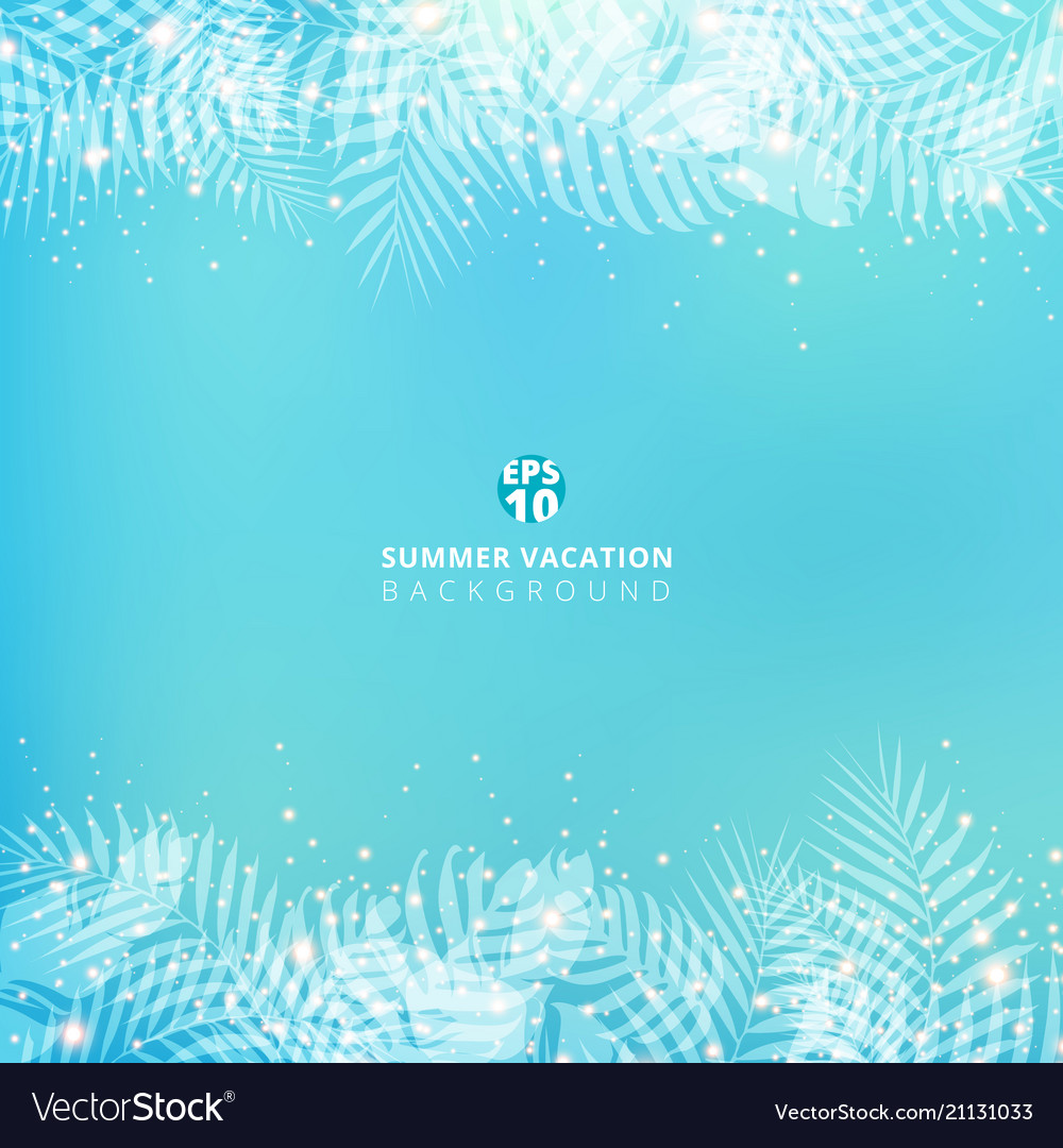 Summer blue blurred background with header