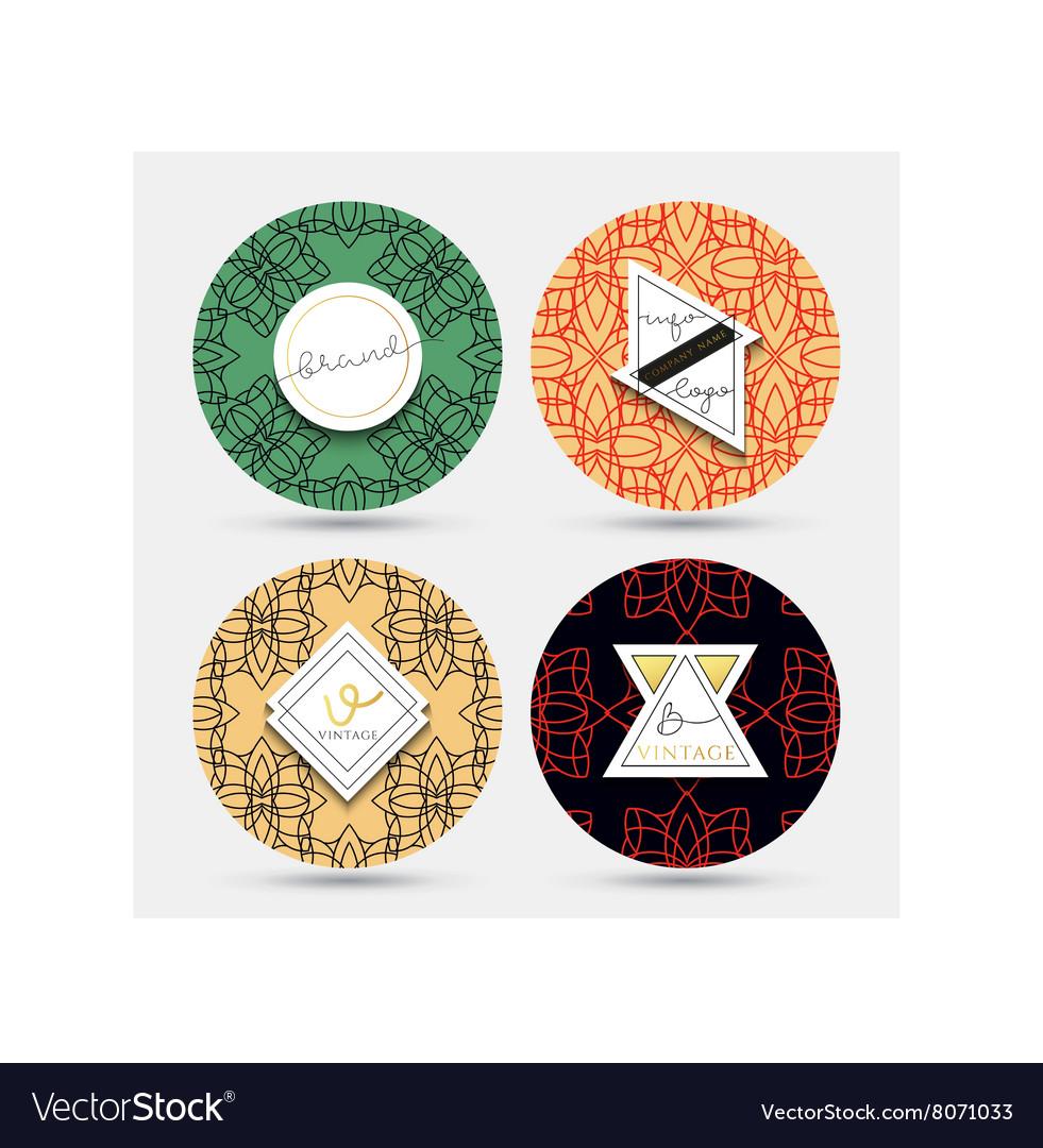 Templates vintage napkin Patterns with geometric