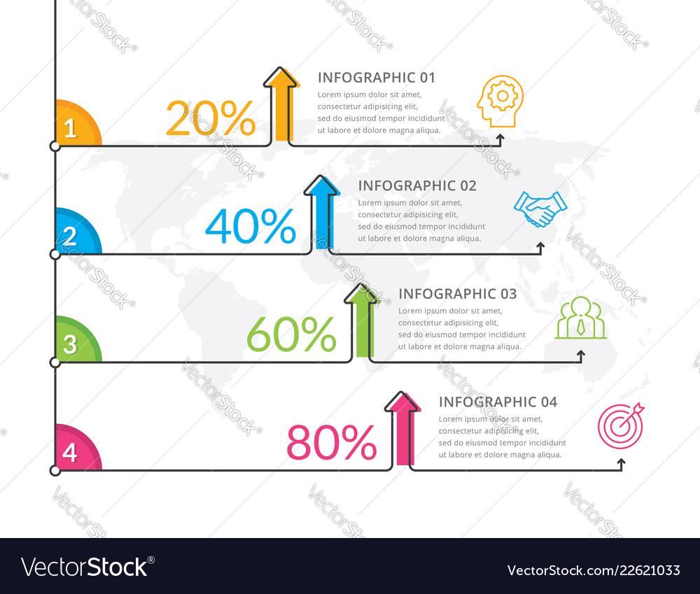 Thin line infographics