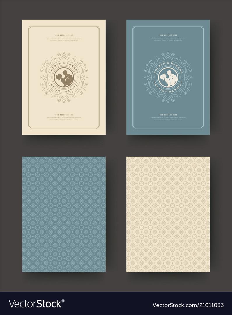 Wedding save date invitation cards vintage