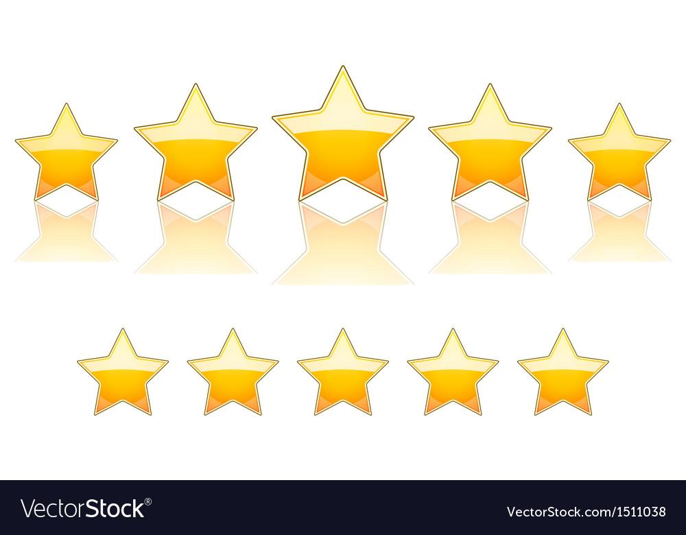 5 gold stars vector image