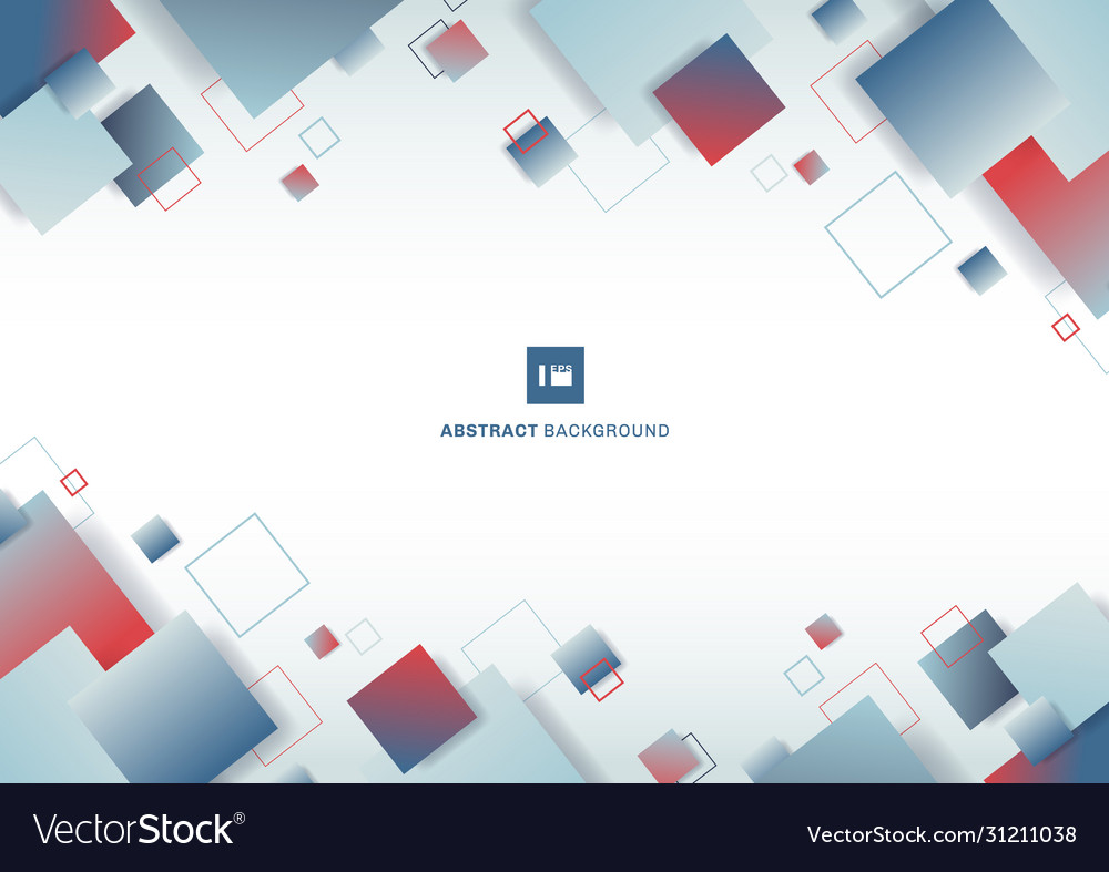 Abstract blue and red gradient color square