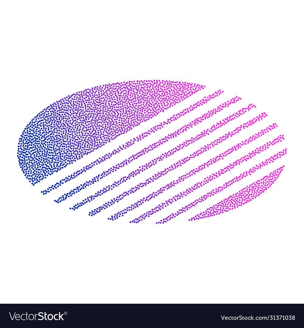 Colored abstract circular logo form dots and