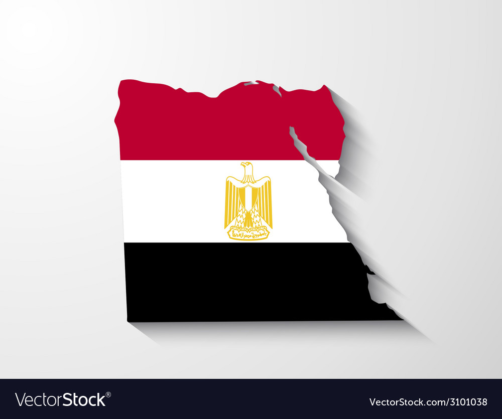 Egypt map with shadow effect