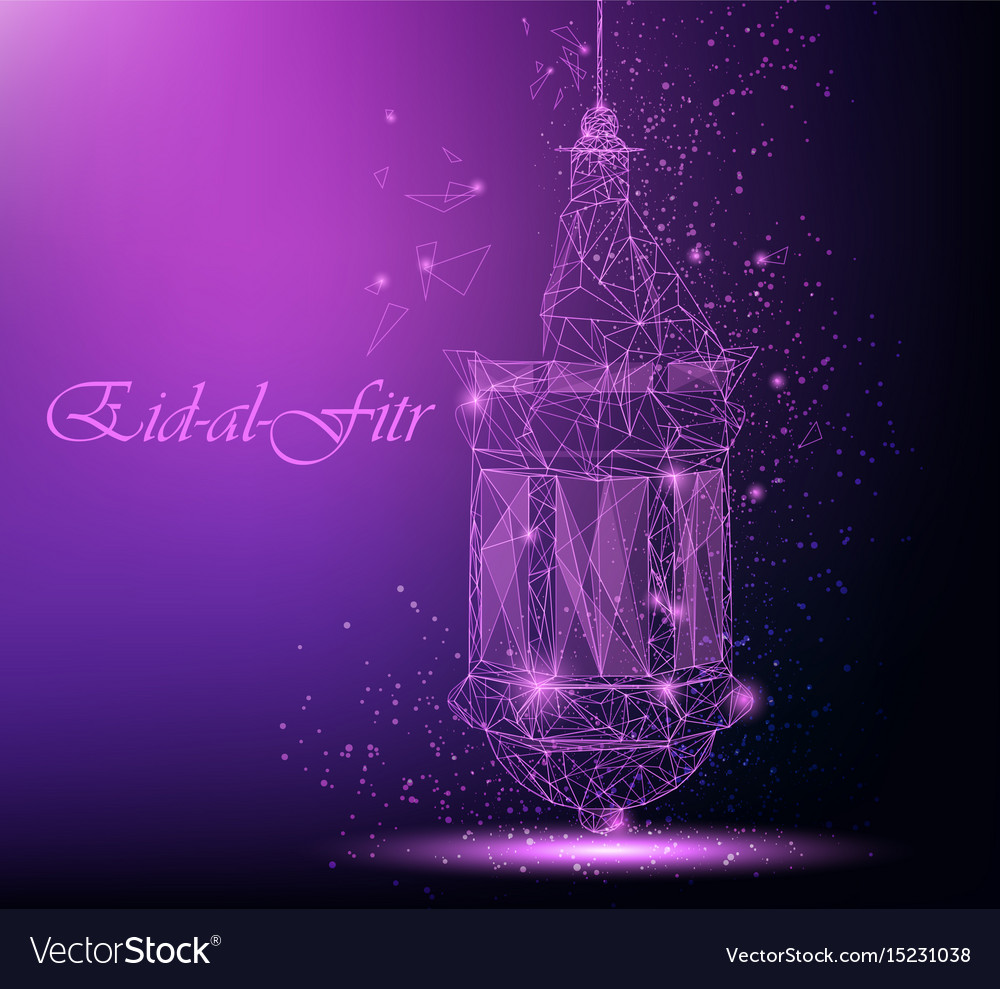 Eid al fitr beautiful greeting card with vector image m4hsunfo