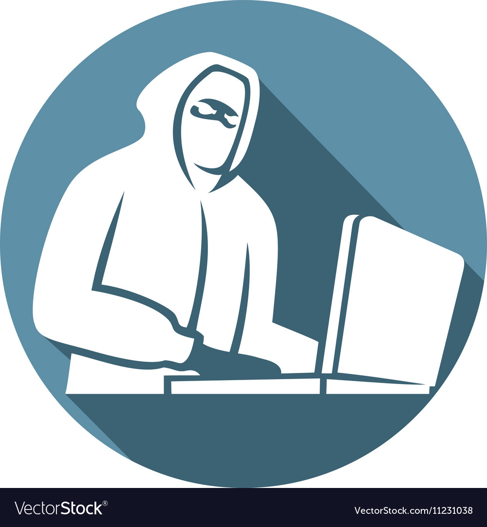 hacker icon royalty free vector image vectorstock vectorstock