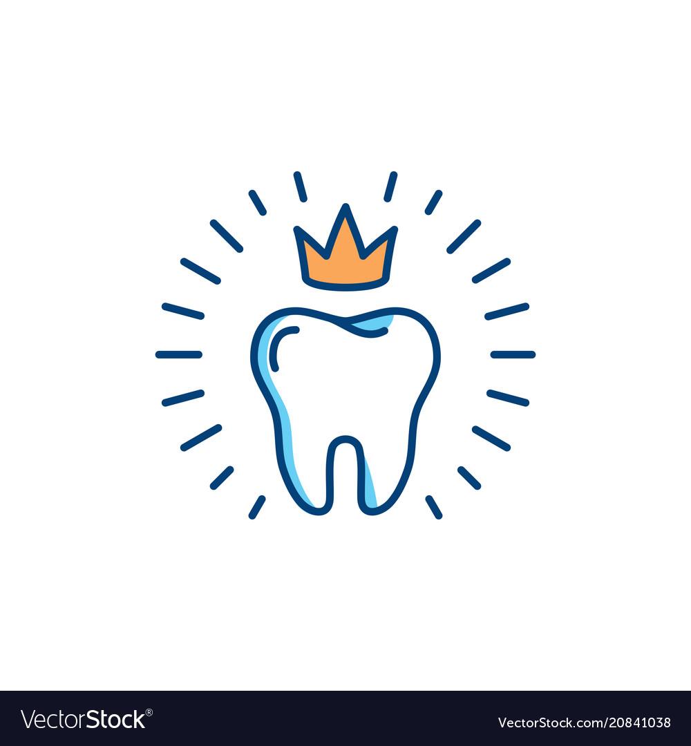 Healthy teeth icon dental care logo concept oral