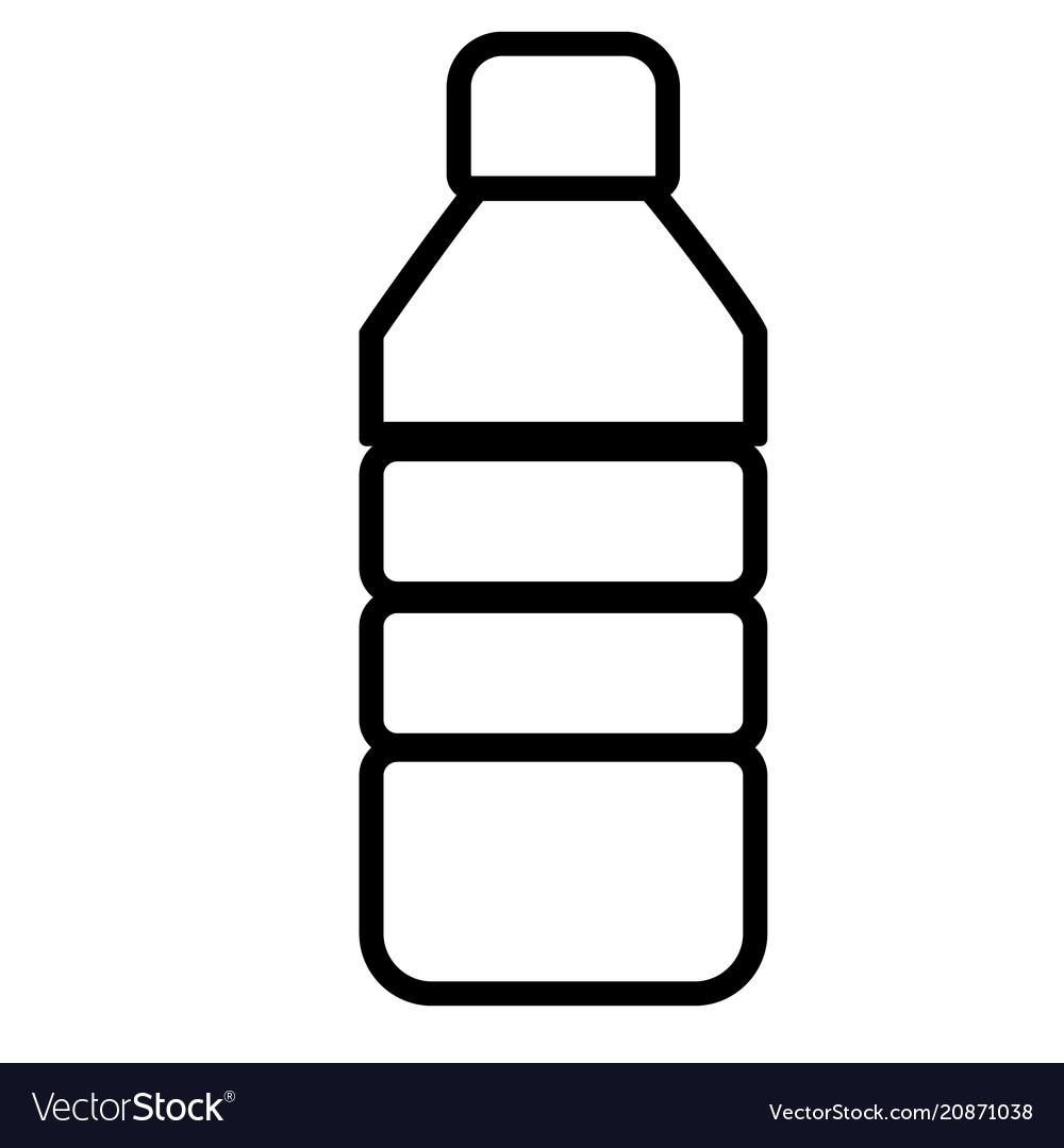 Plastic bottle line sign plastic bottle icon on vector image