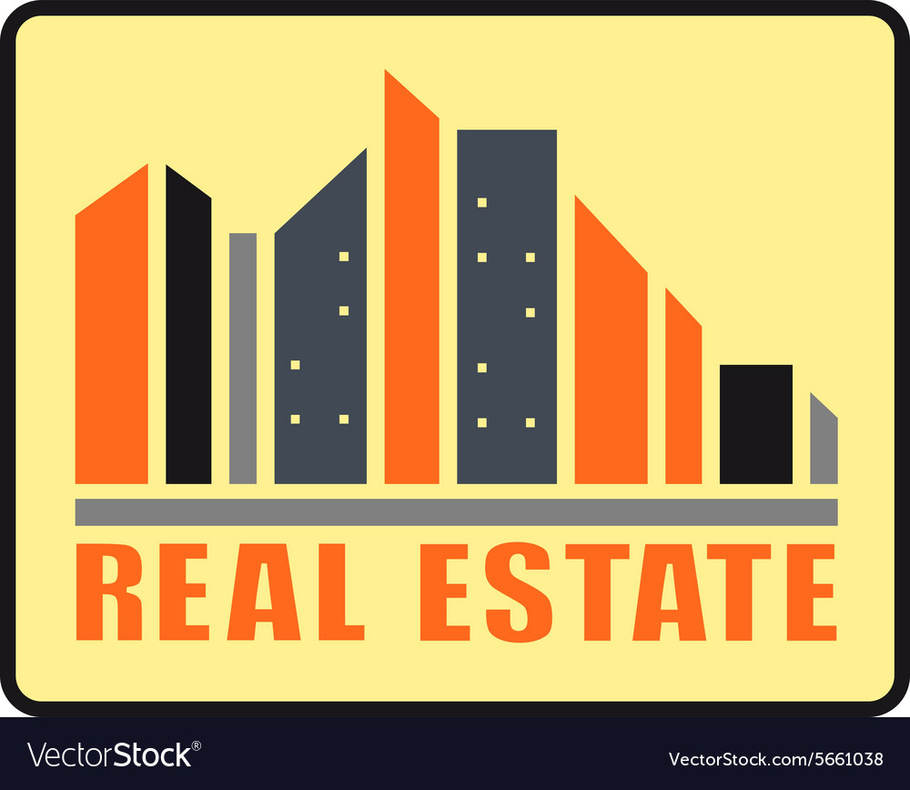 Real estate urban icon