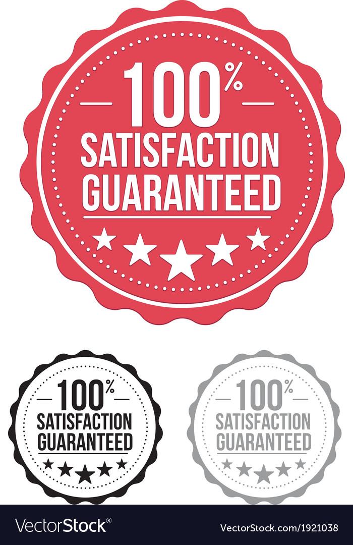 Red satisfaction guaranteed seal stamp design