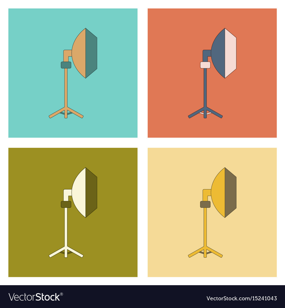 Assembly flat icon professional lighting vector image