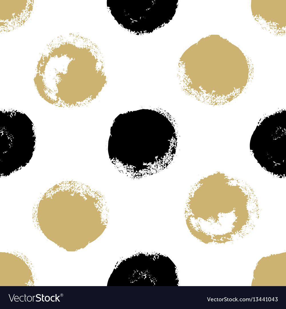 Decorative seamless pattern with brush drawn