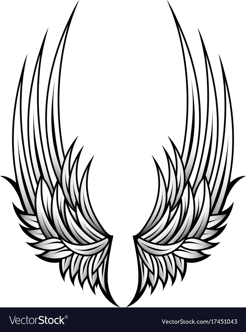 Decorative Wings Tattoo Vector Image On Vectorstock