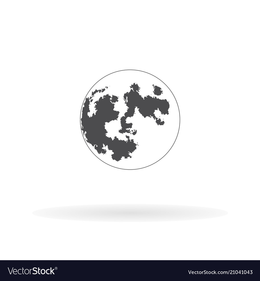 Flat icon planet for web business finance and