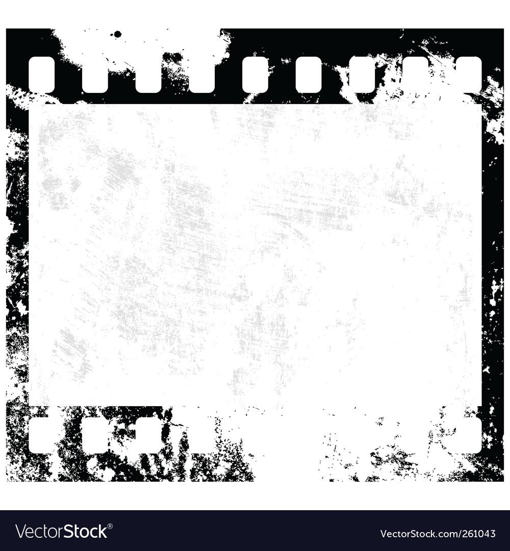 Grunge Film Frame Royalty Free Vector Image Vectorstock