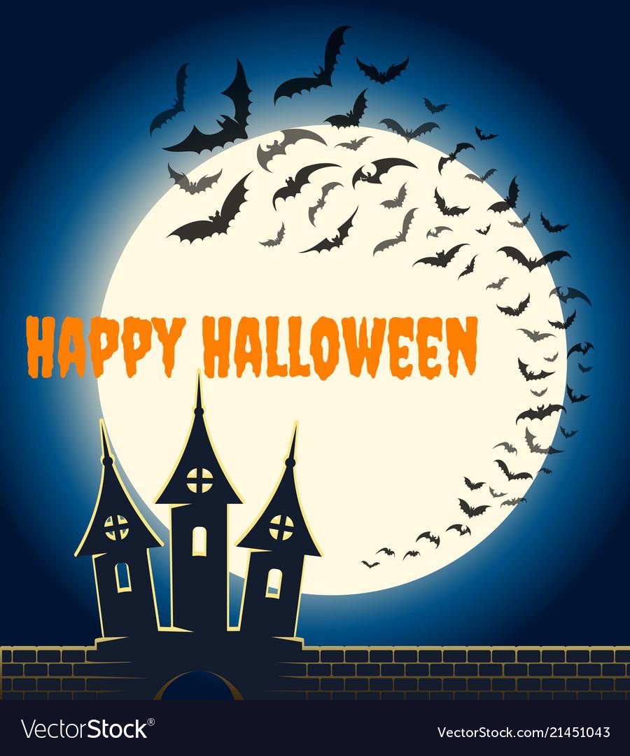 Halloween bats poster