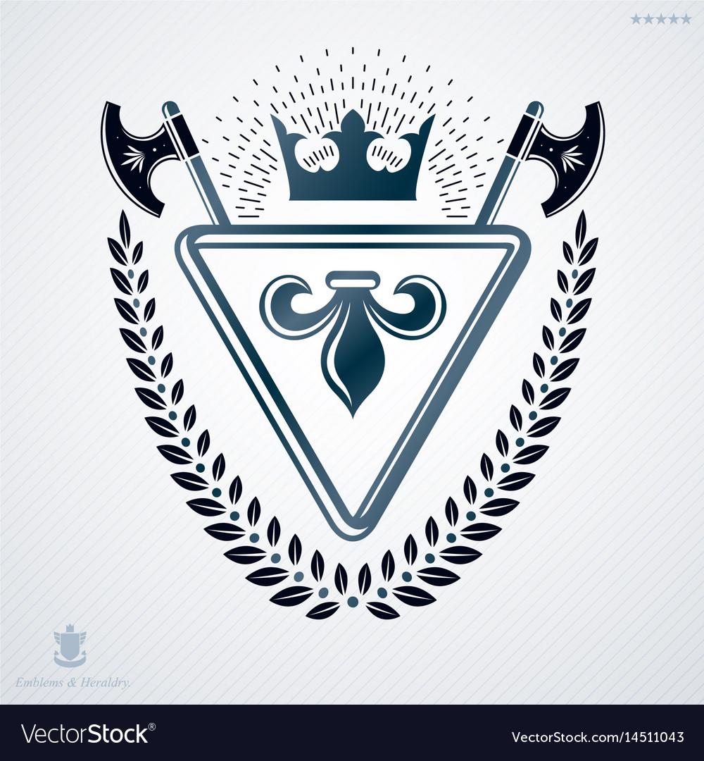 Luxury heraldic emblem template made using vector image