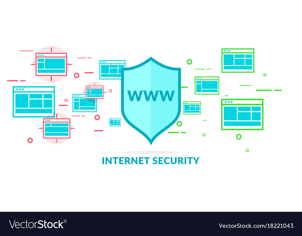 Modern in flat style data security on