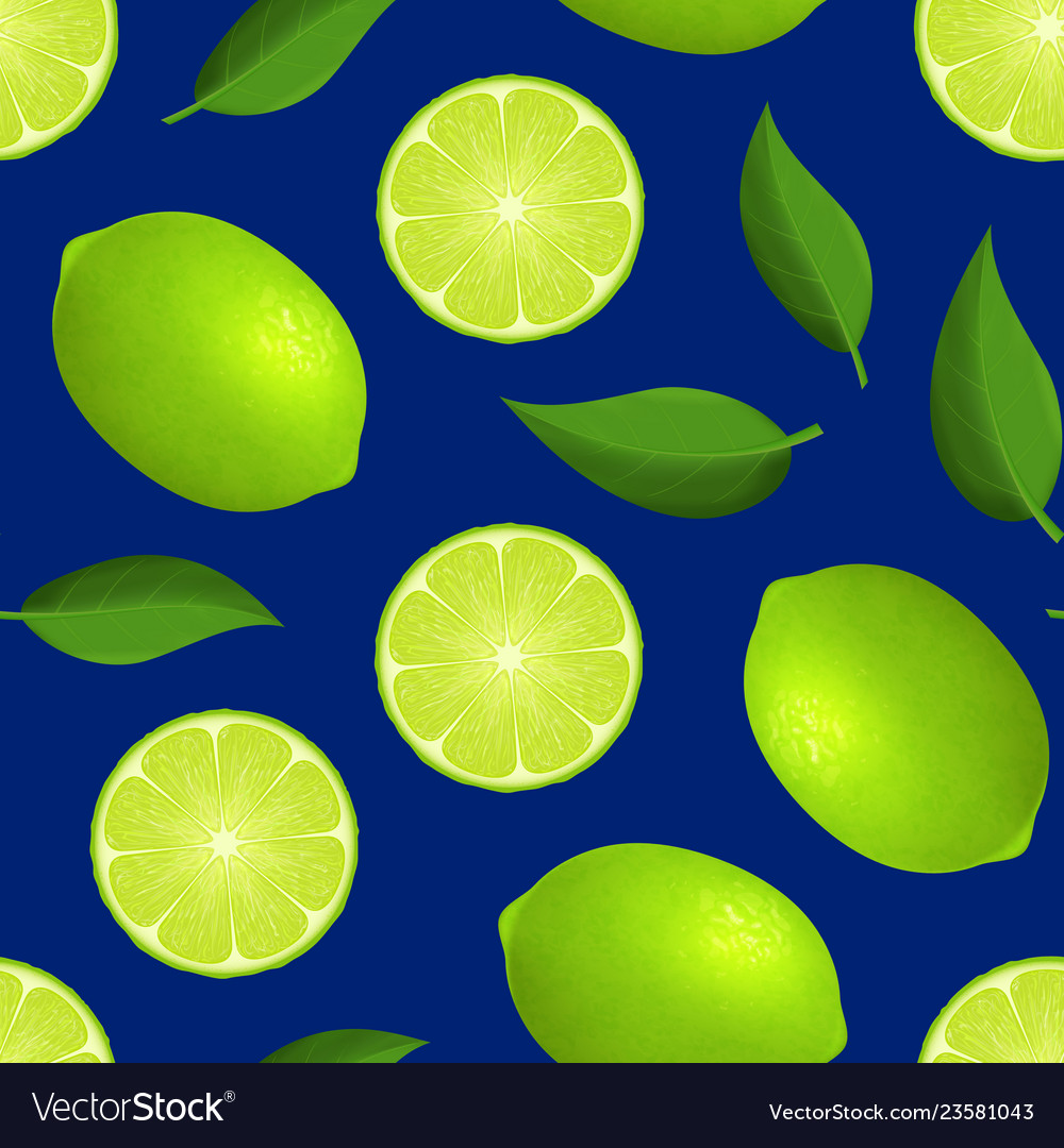 Realistic detailed 3d whole green fruit lime and