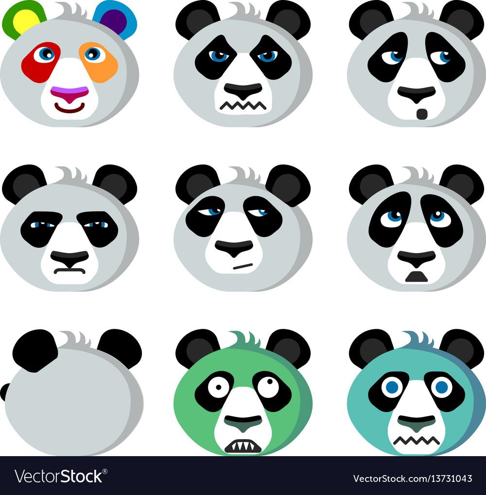 Smile icons emoticons panda