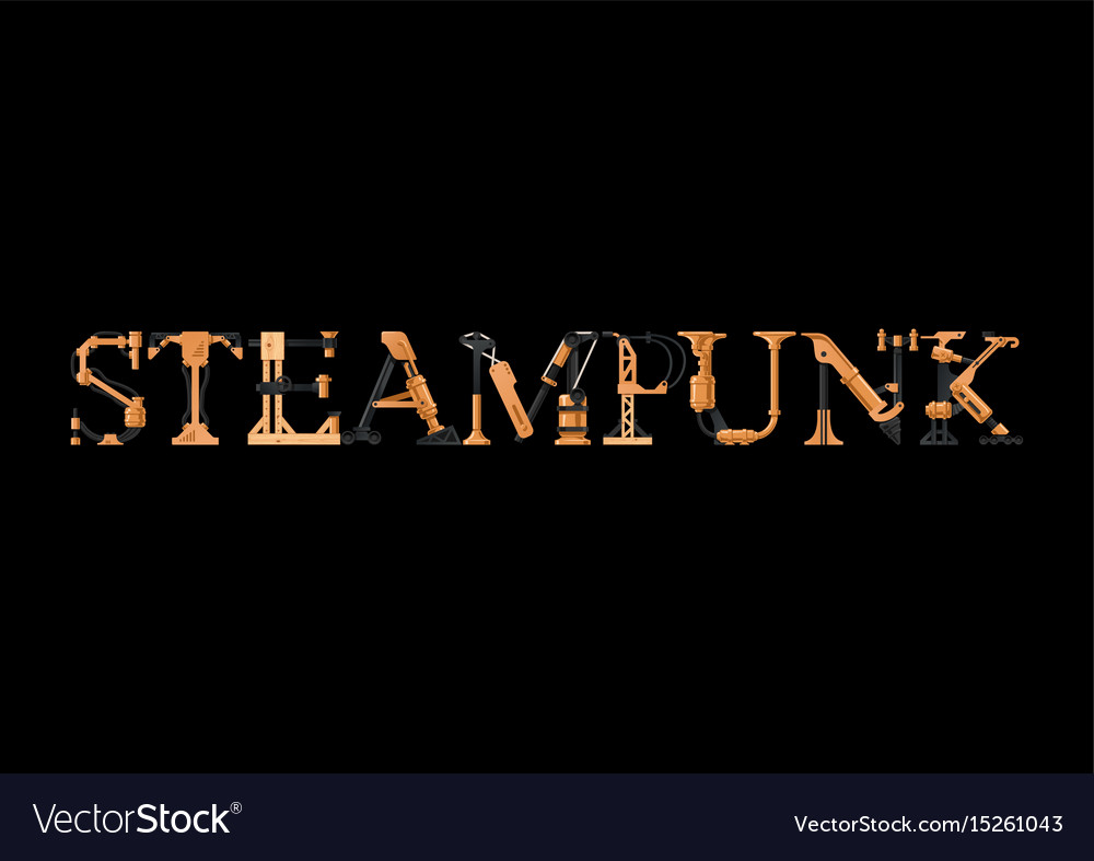 Steampunk inscription