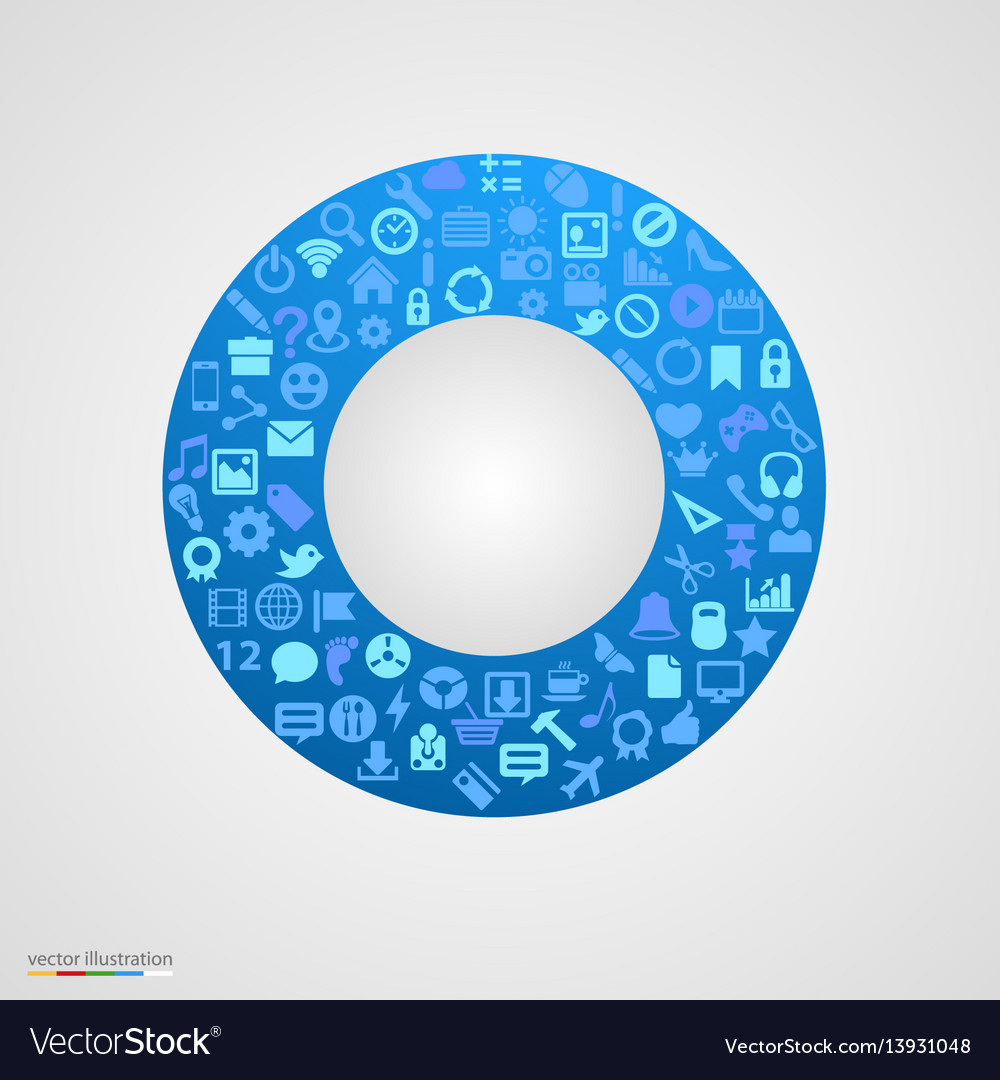 Circle of app icons