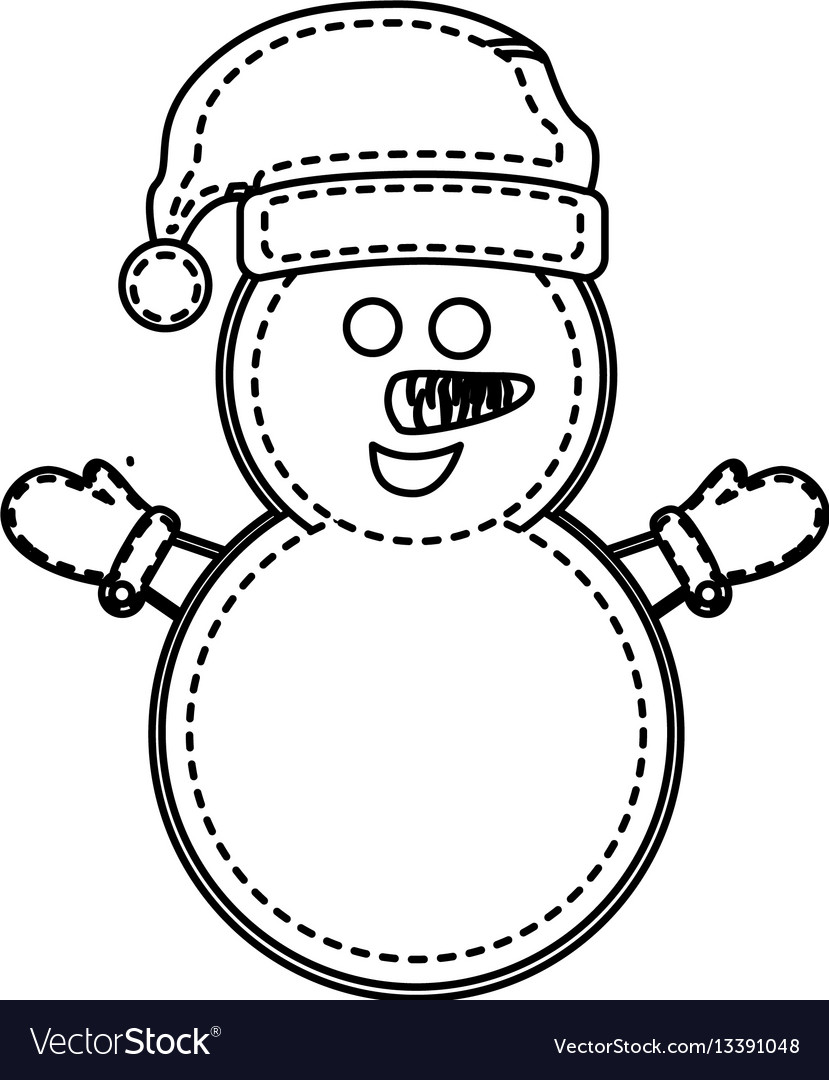 Figure snowman with hat and gloves