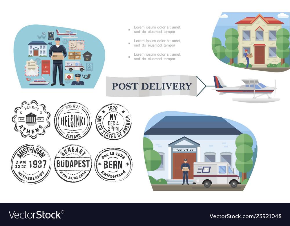 Flat post service concept