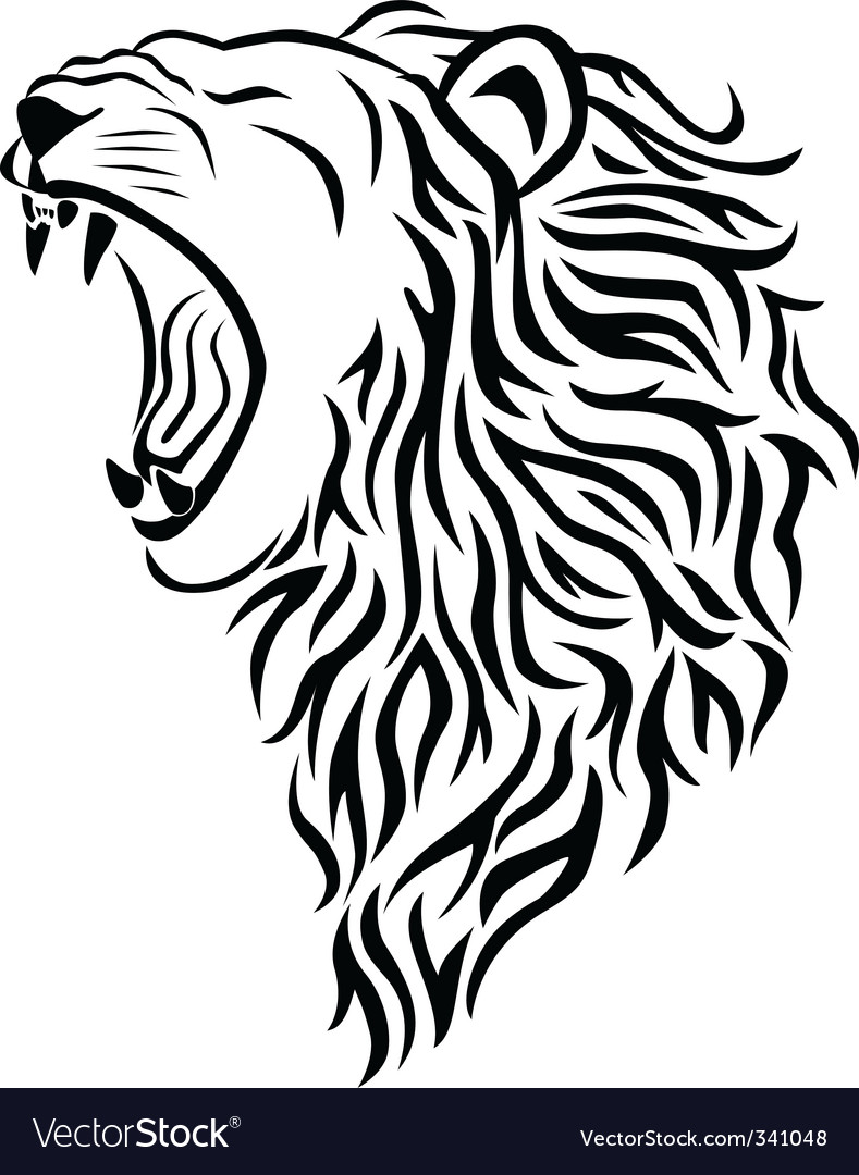 Lion Tattoo Royalty Free Vector Image Vectorstock