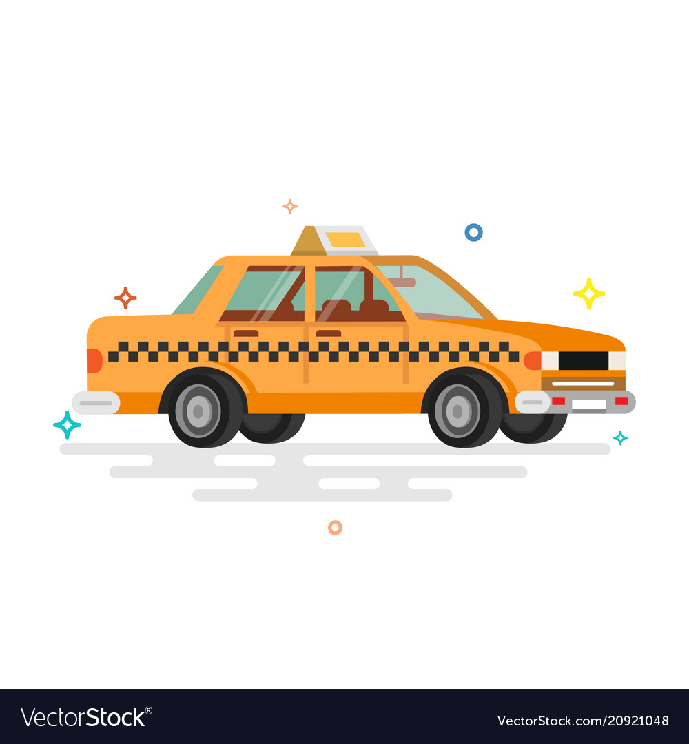 Taxi car flat
