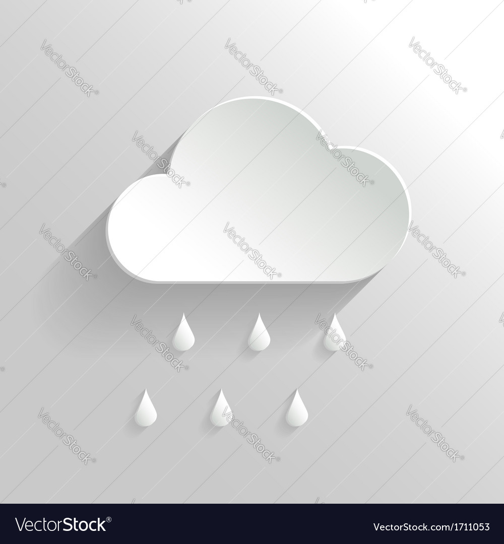 Abstract Cloud and Rain Icon