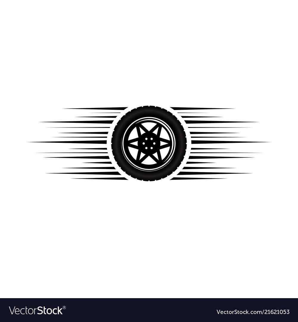 Car Wheel Moving Logo Royalty Free Vector Image