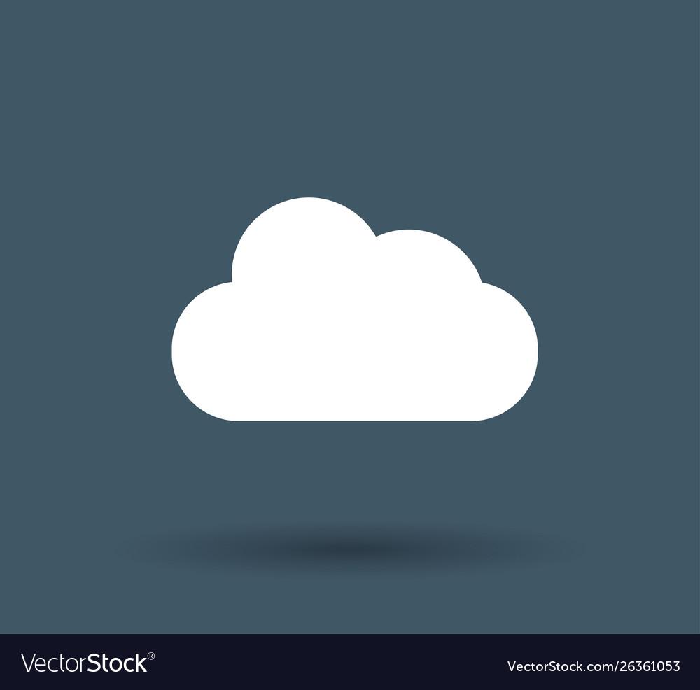 Cloud storage icon on white background