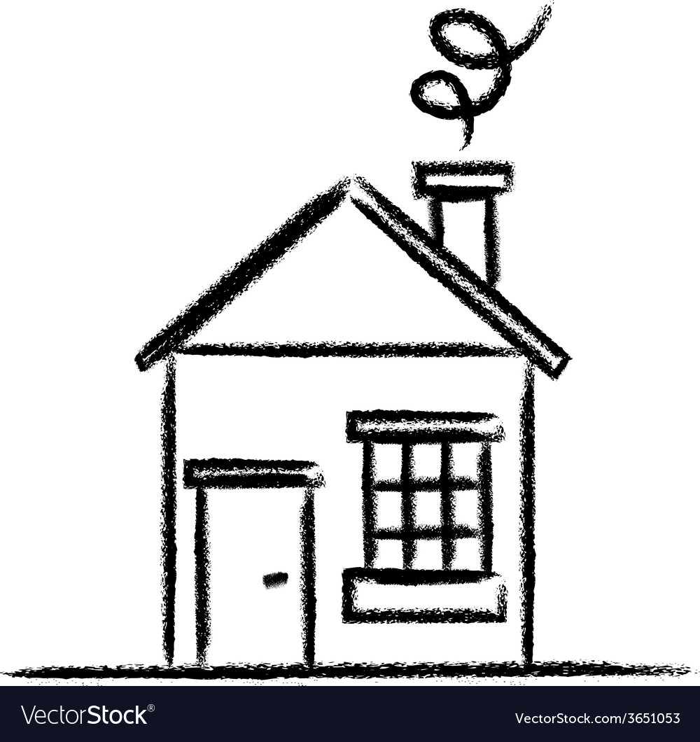 House sketch outline vector image
