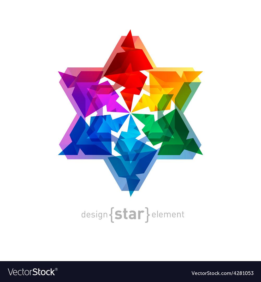 Magic Flower on white background vector image