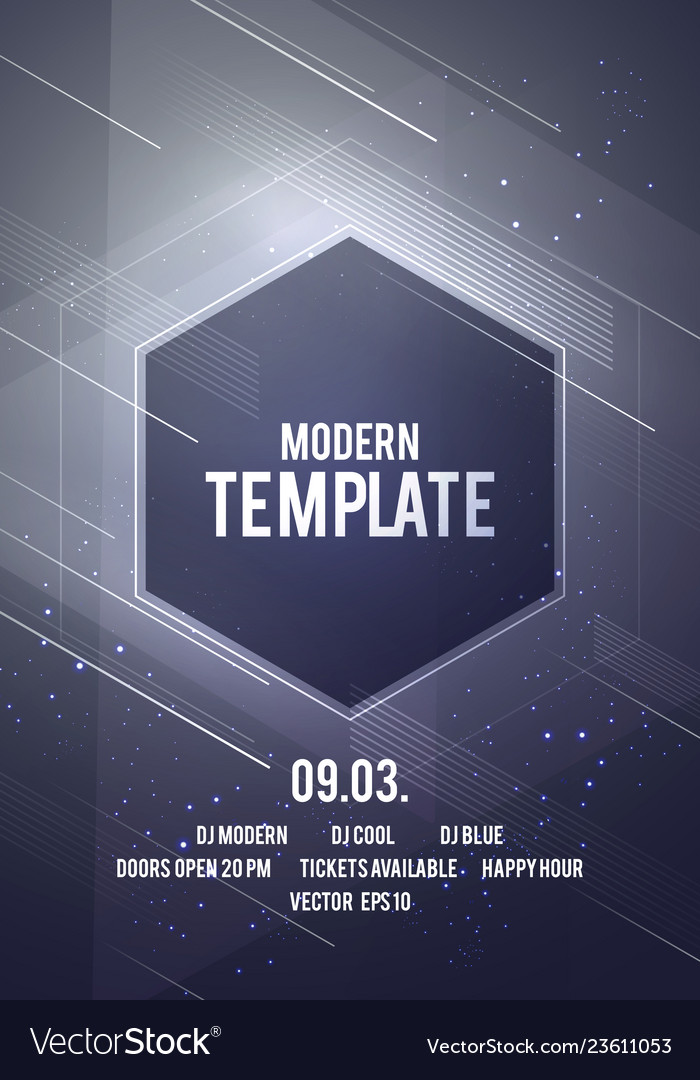 Modern geometric shape dance party poster