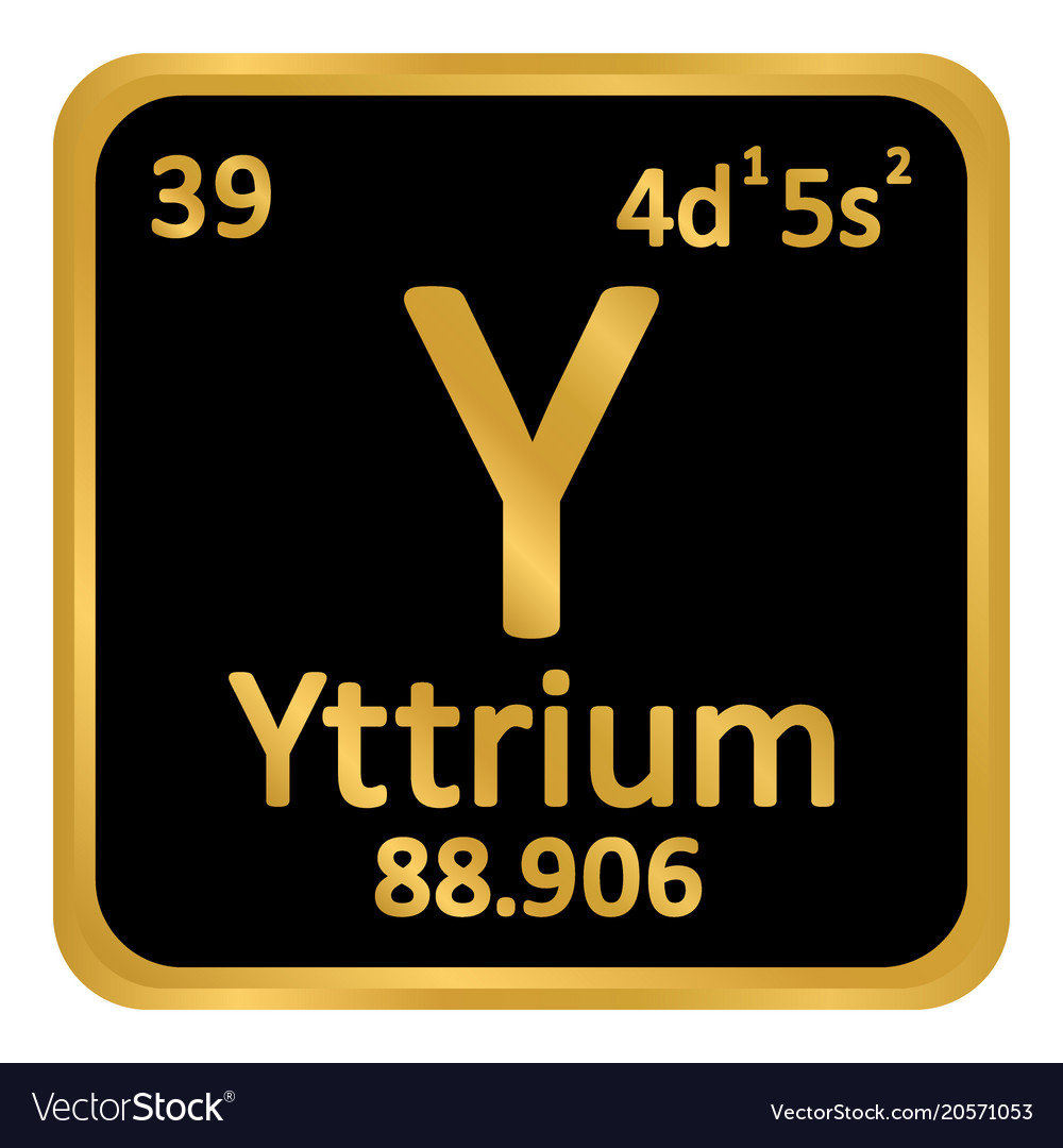 Periodic table element yttrium icon royalty free vector periodic table element yttrium icon vector image urtaz