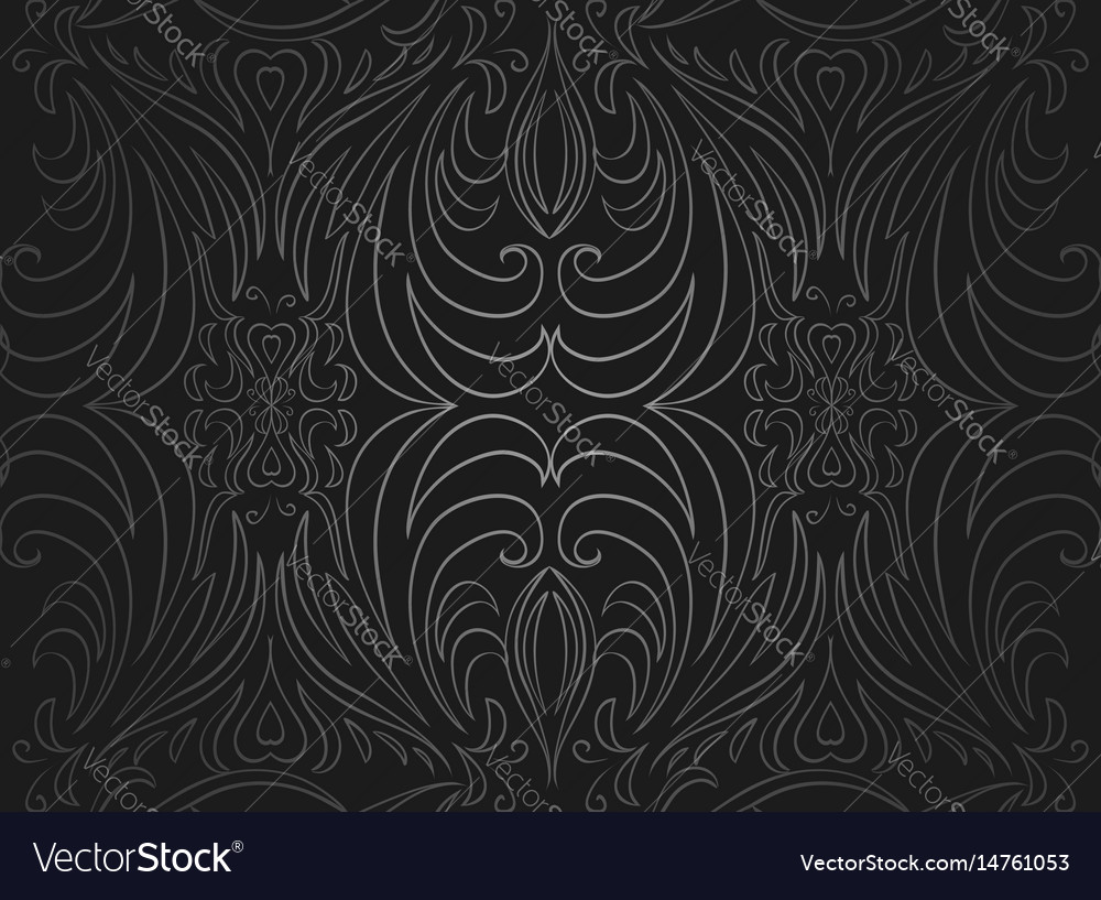 Seamless black and gray vintage texture vector image